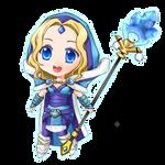 Dota 2: Crystal Maiden Chibi by seika