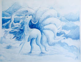 Alolan Ninetales by Leafwhisper44