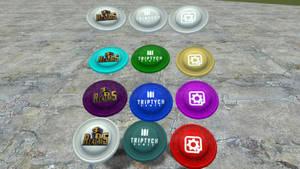 Duke Nukem Forever colorable frisbee by Jason278