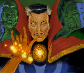 TLIID Superhero-rockstar mashups Bowie Dr Strange by Nick-Perks