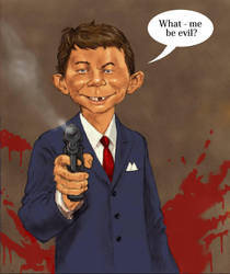 TLIID Evil comic characters Alfred E. Neuman (Mad) by Nick-Perks