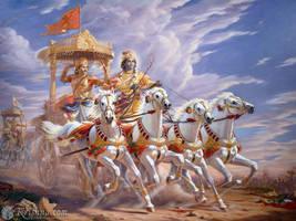 Krishna and Arjuna by ninjashinobu8890