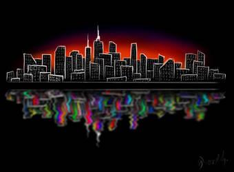 city LIGHTS by levevani