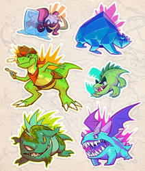 Spyro Baddies: Year of the Dragon by squeedgemonster
