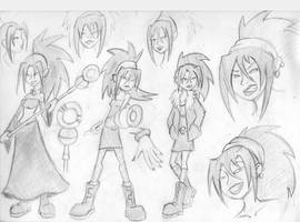 Runaways: Nico Sketches by MonteCreations