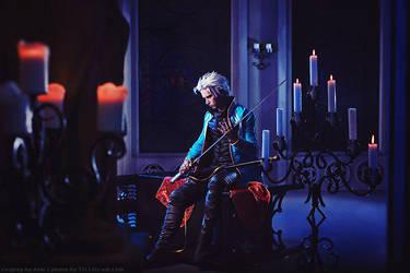 Cosplay: Vergil - Devil may cry 3 by Aoki-Lifestream