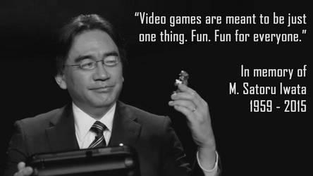 In memory of M. Satoru Iwata by R-One-92