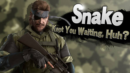 Snake - Smash Bros Splash Card by R-One-92