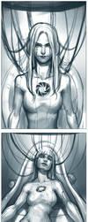 GLaDOS - sketch by Qinni