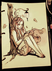 The Tree and her Book of Imagination by Qinni