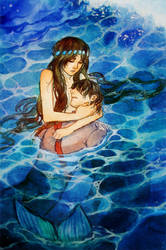 Little Mermaid - Saving the Prince by Qinni