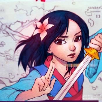 Hua Mulan by Qinni