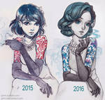 Classy Tattoo lady by Qinni