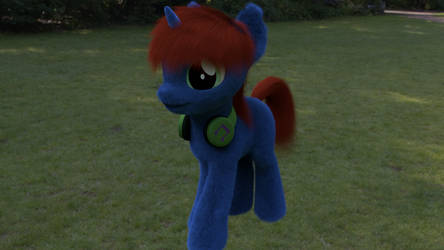 Fluffay Pony w/ Real Hair by CyberPon3