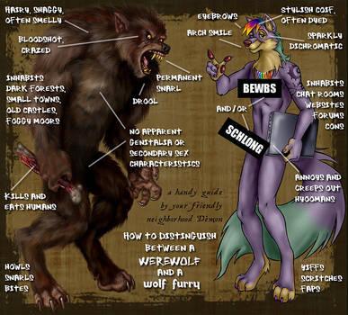 Werewolf or Wolf Furry? by Viergacht