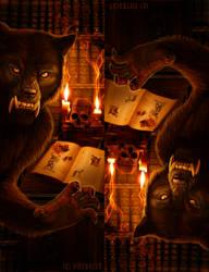 Werewolf Bookmarks for print by Viergacht