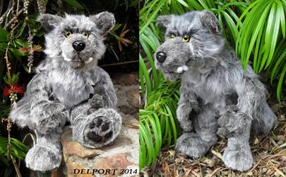 Silver Werewolf plush by Viergacht