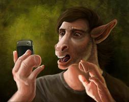 Donkey selfie by Viergacht