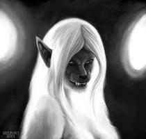 Draw a Werewolf Day - Wyfwolf by Viergacht