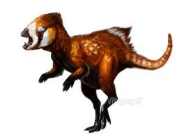 Dinovember - Heterodontosaurus speedpaint by Viergacht