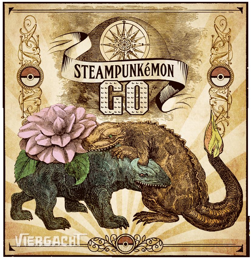 Steampunk Pokemon by Viergacht