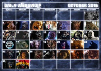 Daily Werewolf Calendar 2016 by Viergacht