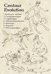 Centaur Evolution sketch by Viergacht