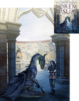 Dragon's Deal Premade Blank Book Cover by Viergacht