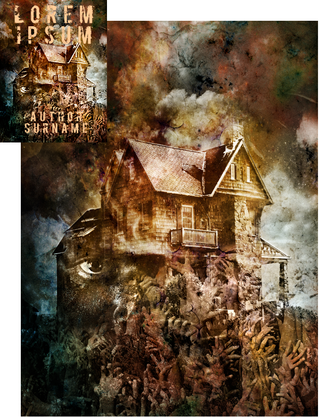 Spookhouse USA Premade Book Cover by Viergacht