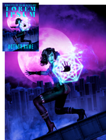 Hex Witch of Midnight City Premade Book Cover by Viergacht