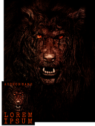 Grizzled Werewolf Premade Book Cover by Viergacht
