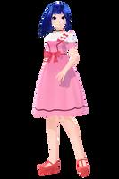 [Pokemon] TDA Dawn Contest Dresses - MMD by Meennie46