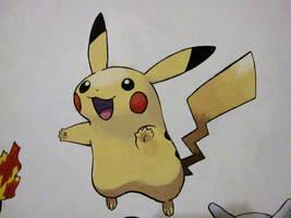 025 Pikachu - painting by Crotchmonsoon