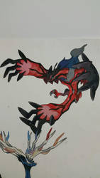Yveltal painting by Crotchmonsoon