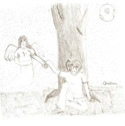 Watching Angel by NightmareZero99
