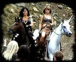Xena, Gabrielle, Unicorn by XenaLive