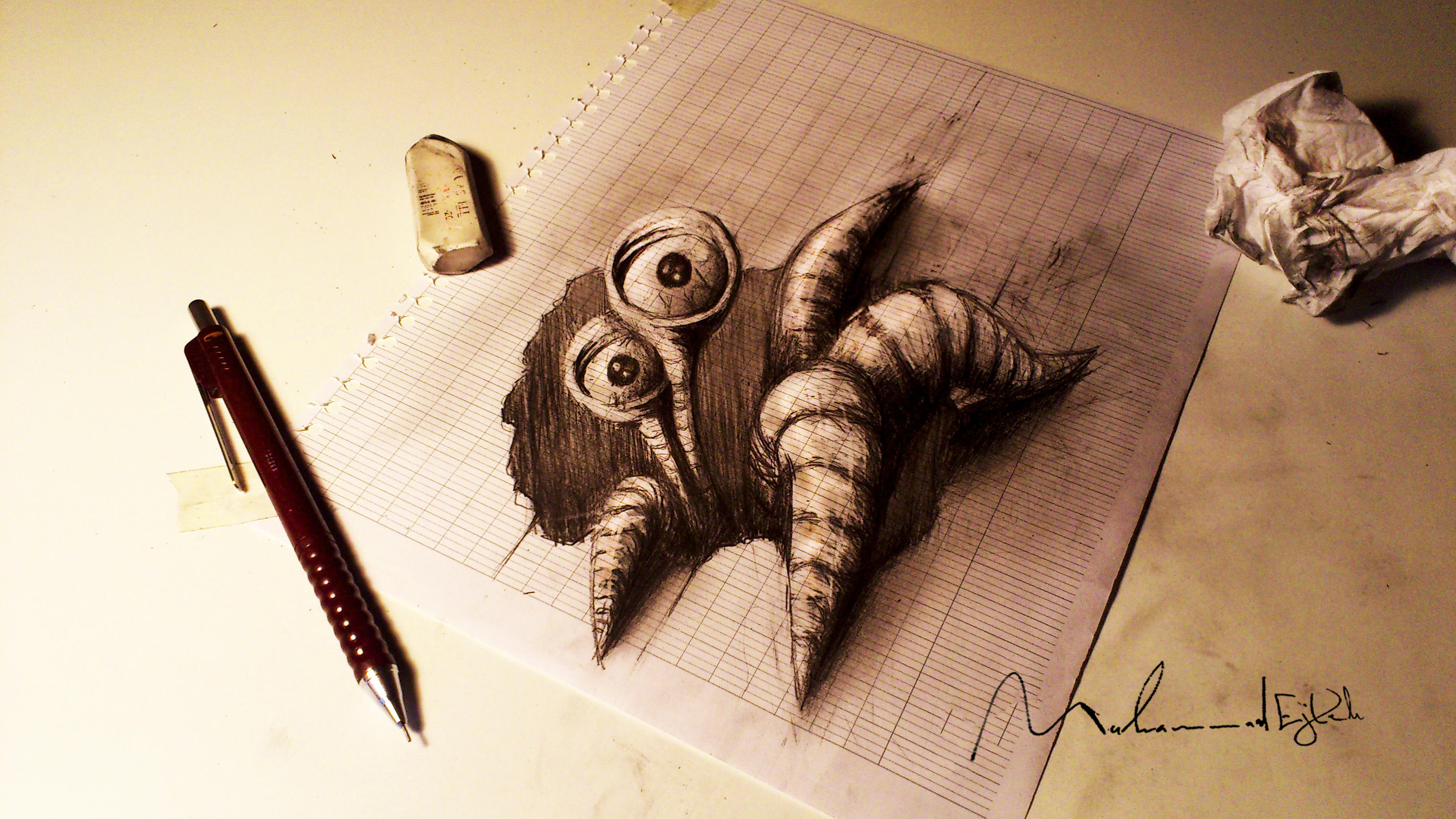 Paper monster 2 by Muhammad-Ejleh