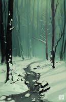Winter Forest by tohdraws