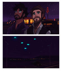 The Lights Above Arby's by tohdraws