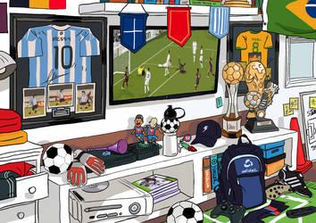 Soccer Fan by tohdraws