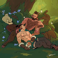 31 Sleeping Under The Oak Tree by tohdraws