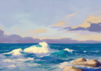Coastal Study by tohdraws