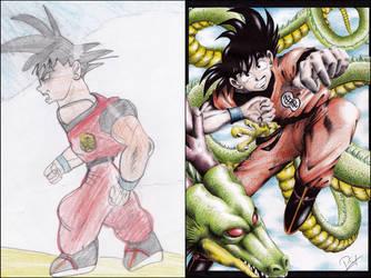 Goku 2002 vs. 2016 by Petah55