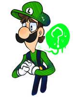 I'mma Luigi DOODLE by 00TheInkJester00