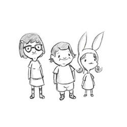 The Kids (as seen on Bob's Burgers credits!) by leeleecalgirl