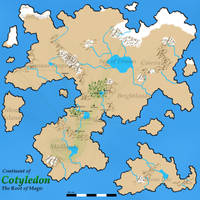 Map: Continent of Cotyledon v2.1 by KSchnee