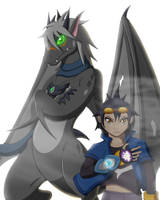 Vyse and Agito by DragonJuno
