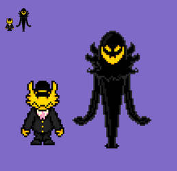 AHIT The Conductor and The Snatcher Sprites by EllistandarBros