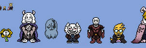 (Undertale Rusted) Some characters OW Sprites by EllistandarBros