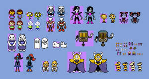 (Undertale) OW Cast Sprites V2 by EllistandarBros